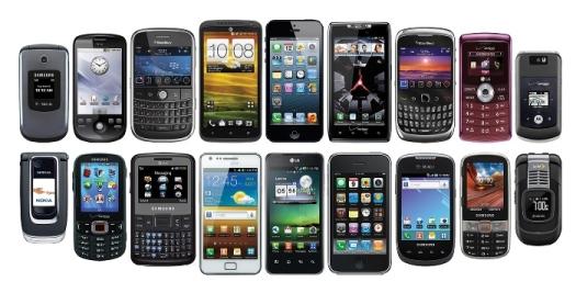 Typy mobilních telefonů
