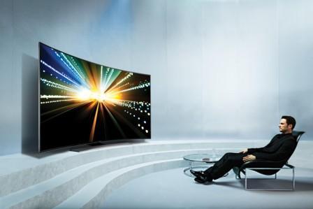 Prohnutá televize