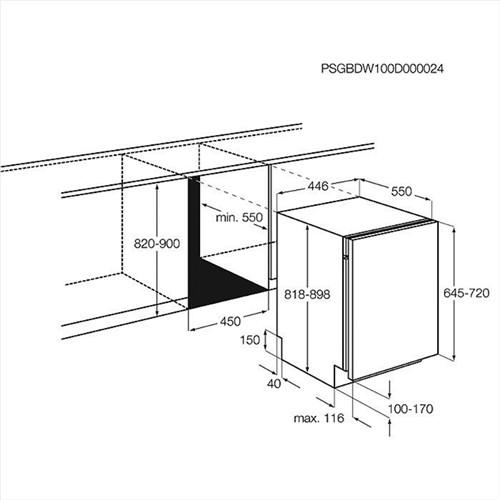 Electrolux ESL 4200 zabudování