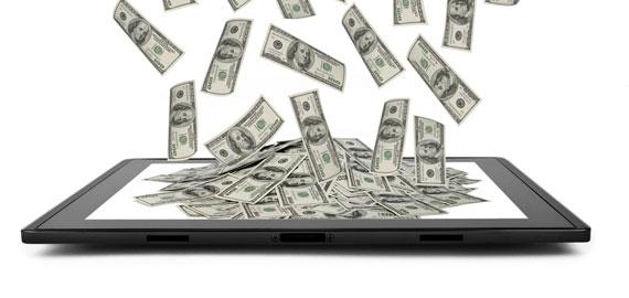 Tablet peníze