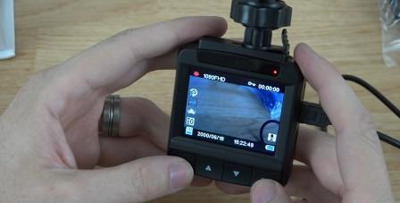 Displej autokamery