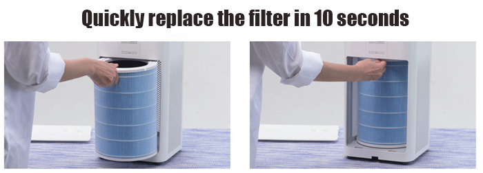 Čistička vzduchu výměna filtru
