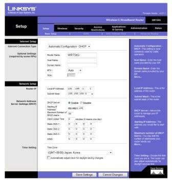 Webová administrace