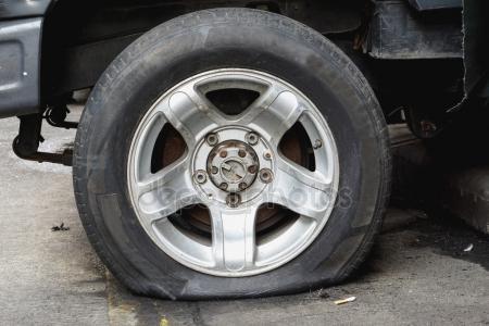 Poškozená pneumatika