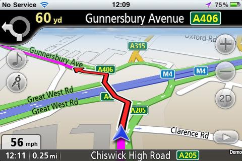 GPS navigace mapy