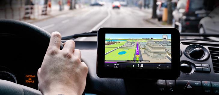 GPS navigace v autě