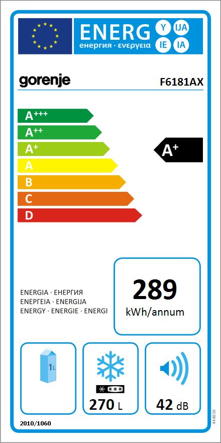 Energetický štítek mrazáku