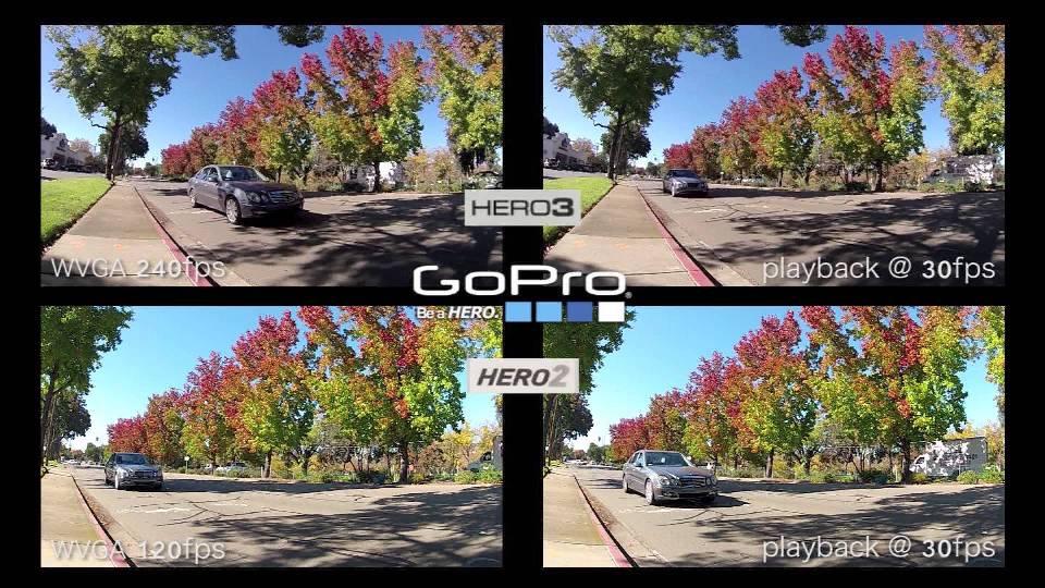 GoPro hero snímková frekvence