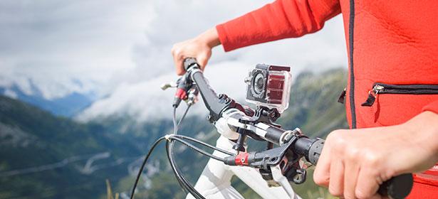 Outdoorová kamera na kole