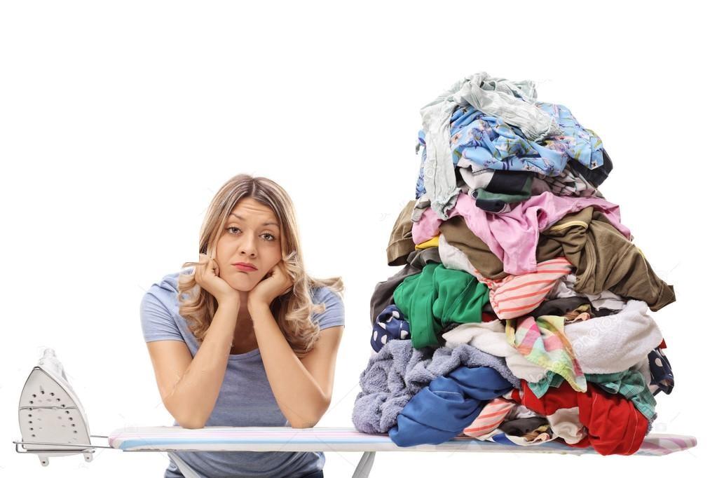 Příliš mnoho prádla k vyžehlení