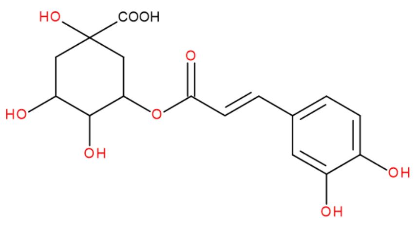 Kyselina chlorogenová vzorec