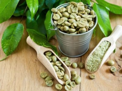 Zelená káva do záhlaví