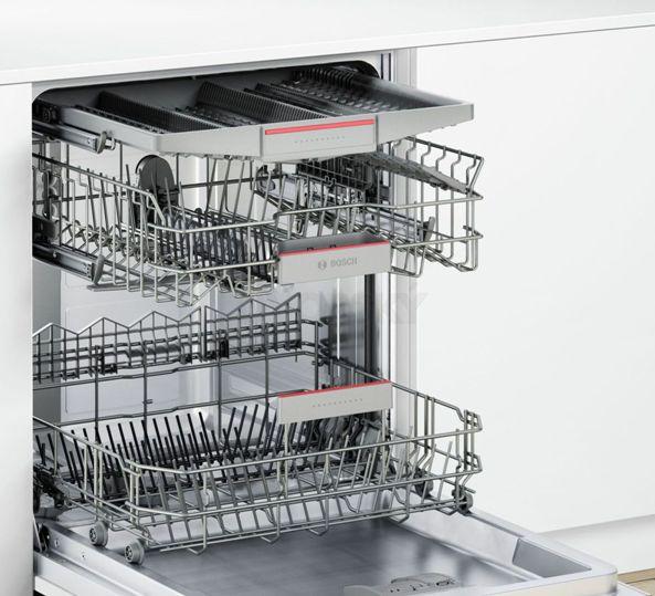 Vnitřní uspořádání myčky nádobí