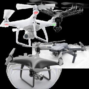 Drony bez pozadí